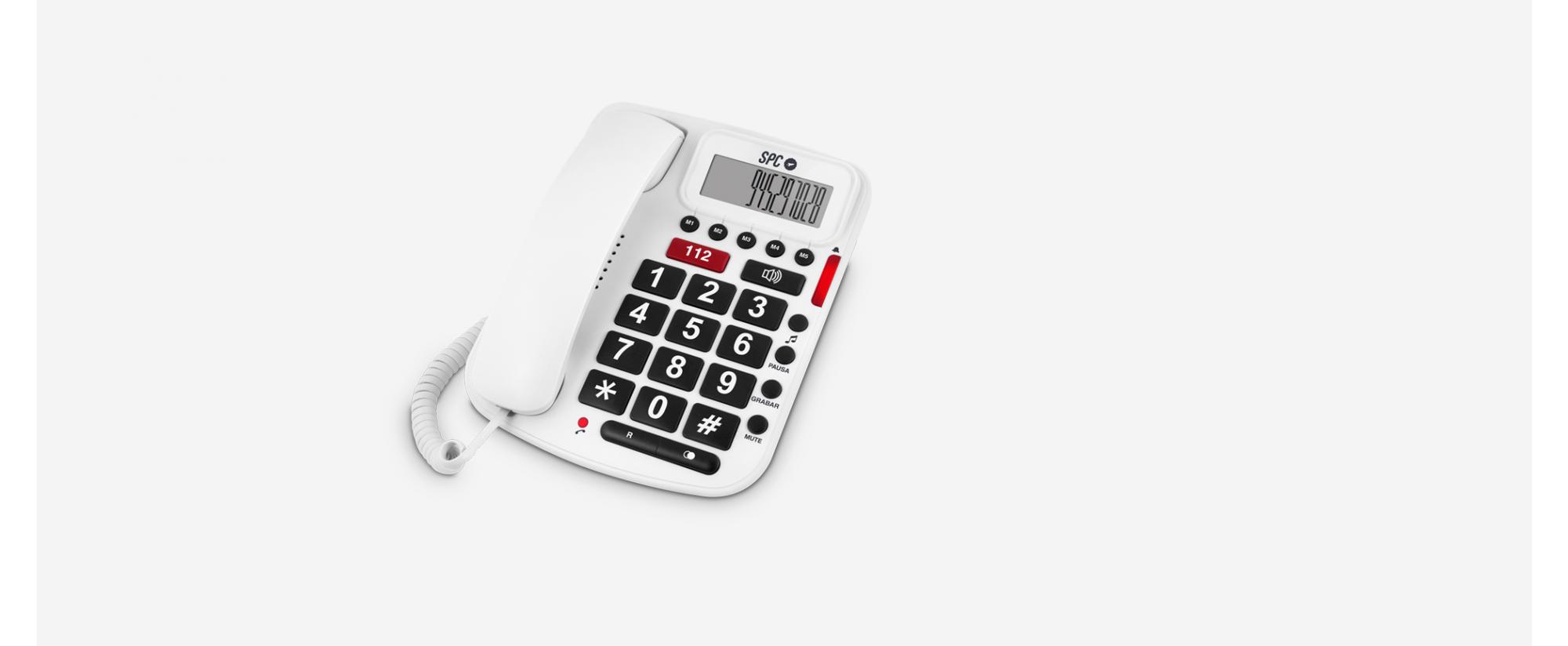 3293B - TELEFONO SPC 3293B COMFORT VOLUME BLANCO
