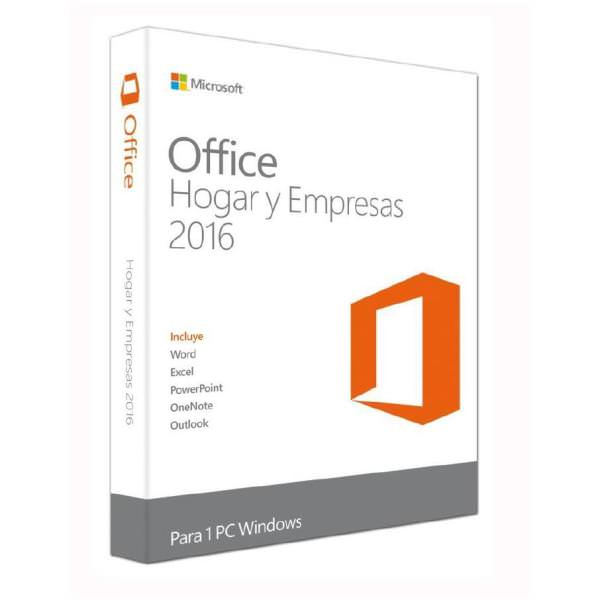 T5D-02899 - MICROSOFT OFFICE 2016 HOME AND BUSINESS 1 PC CAJA