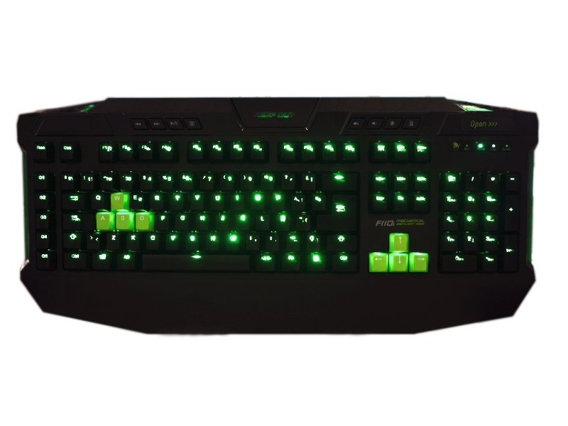 F110S - TECLADO KEEP OUT F110 GREEN BACKLIGHT