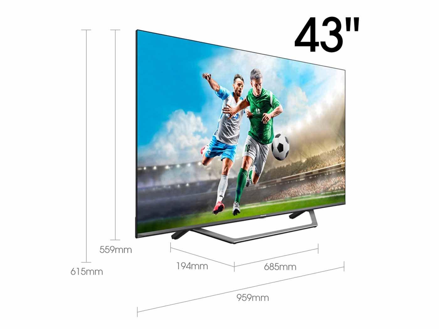 43A7500F - TELEVISION 43' HISENSE 43A7500F 4K UHD HDR SMART TV IA