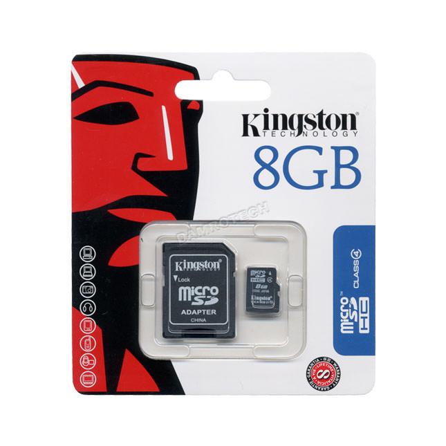 MEMORIA MICRO SD 8GB HC KINGSTON 1 ADAP
