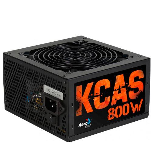 FUENTE ALIMENTACIÓN 800W AEROCOOL KCAS800 80PLUS GAMING