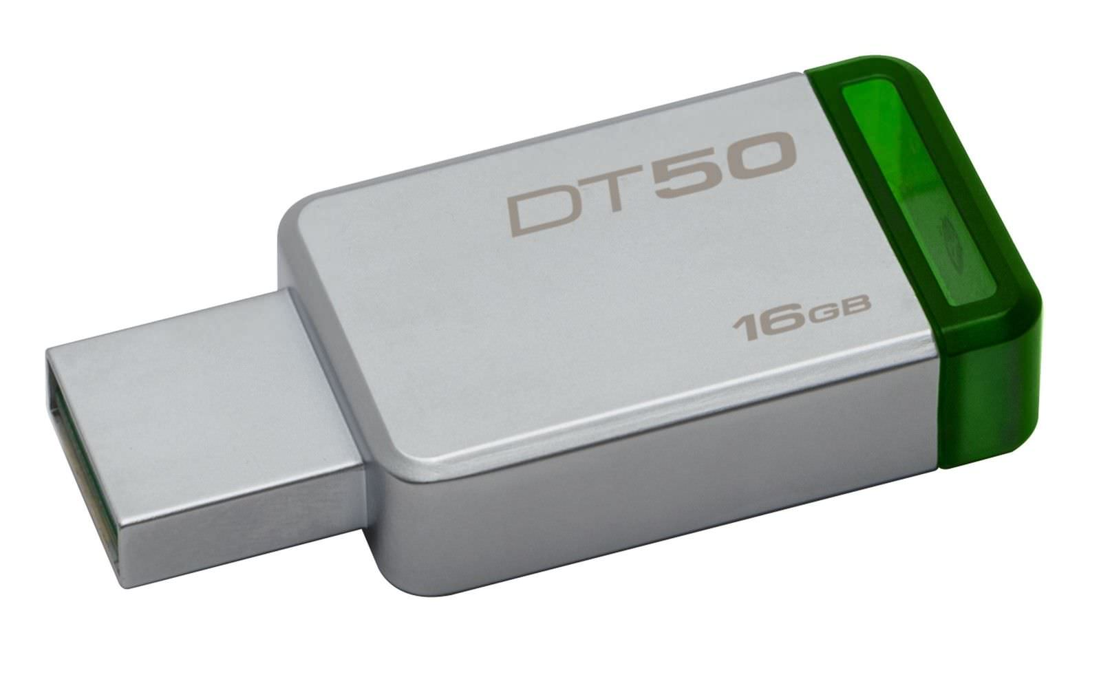 PEN DRIVE 16GB KINGSTON USB3.0 DT50 VERDE