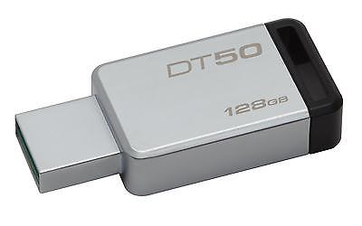 PEN DRIVE 128GB KINGSTON USB3.0 DT50 NEGRO