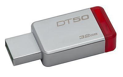 PEN DRIVE 32GB KINGSTON USB3.0 DT50  ROJO