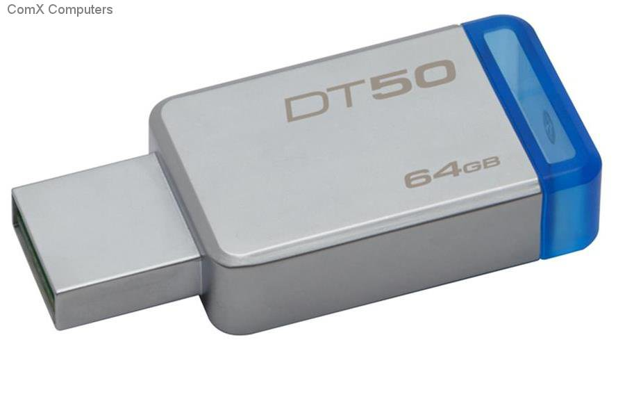 PEN DRIVE 64GB KINGSTON USB3.0 DT50 AZUL