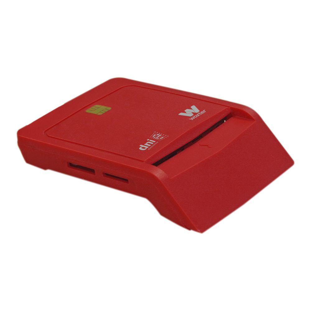 LECTOR TARJETA CHIP DNIE USB WOXTER ROJO TR3.0