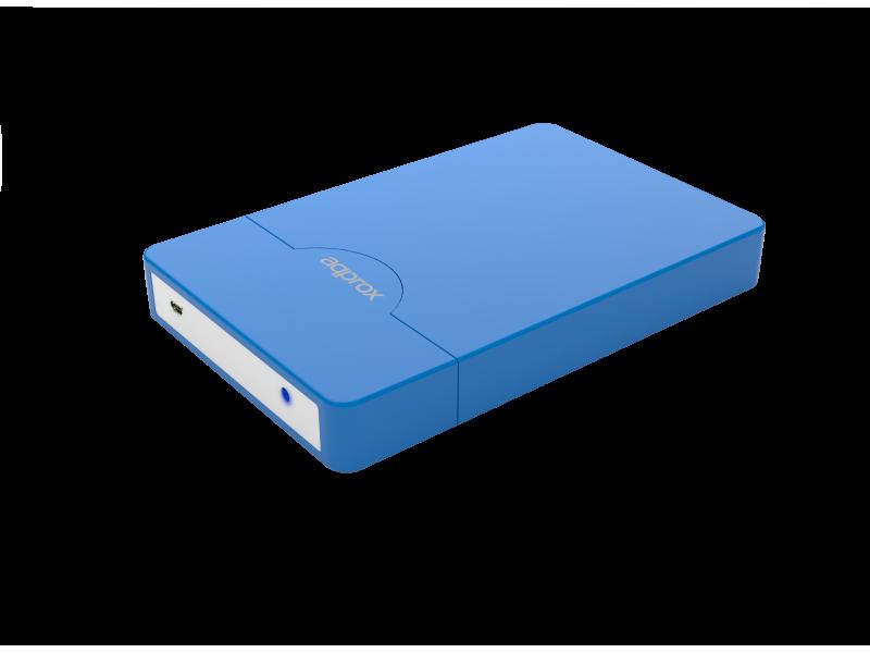 APPHDD09LB - CAJA EXTERNA HDD 2.5' SATA-USB 2.0 APPROX AZUL