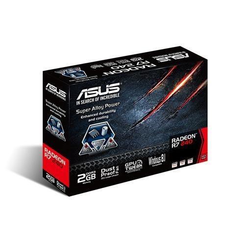 SVGA ATI RADEON ASUS R7 240 2GB-DDR3-HDMI-DVI-VGA