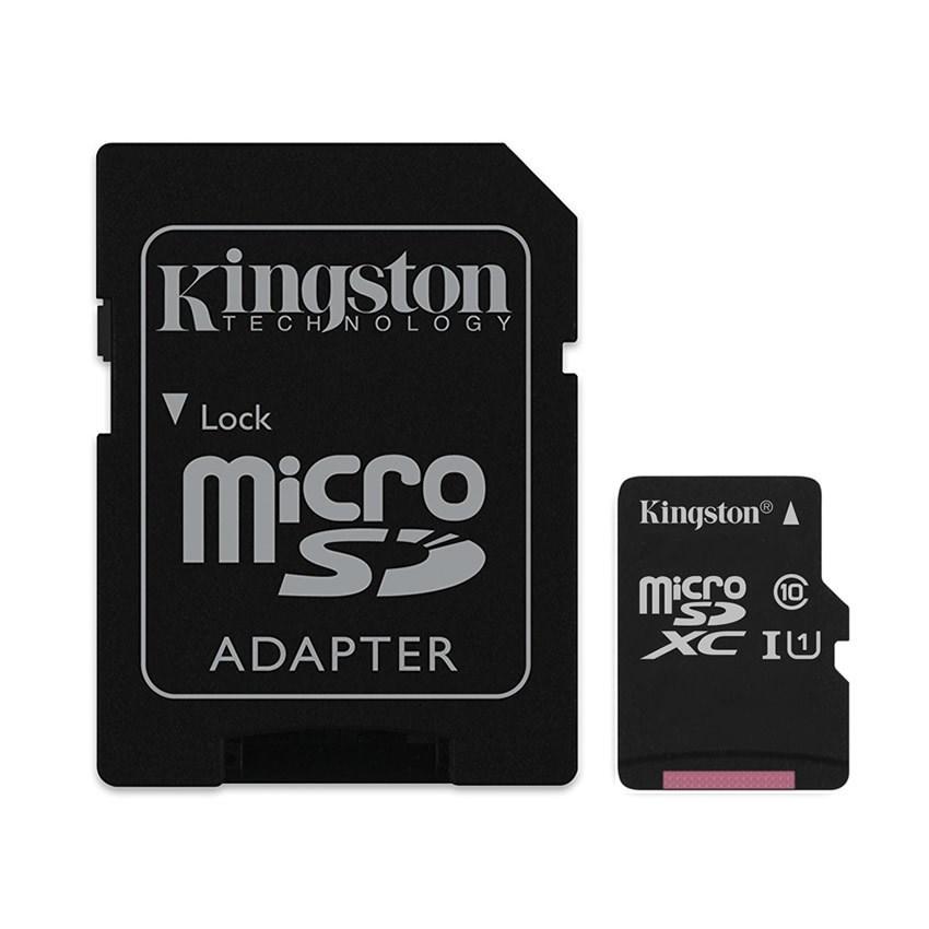 MEMORIA MICRO SD 16GB KINGSTON CLASE 10 UHS-I 80R