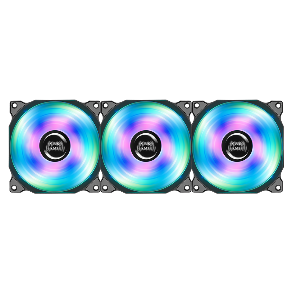 KIT DE 3 VENTILADORES MARS GAMING RGB 120MM