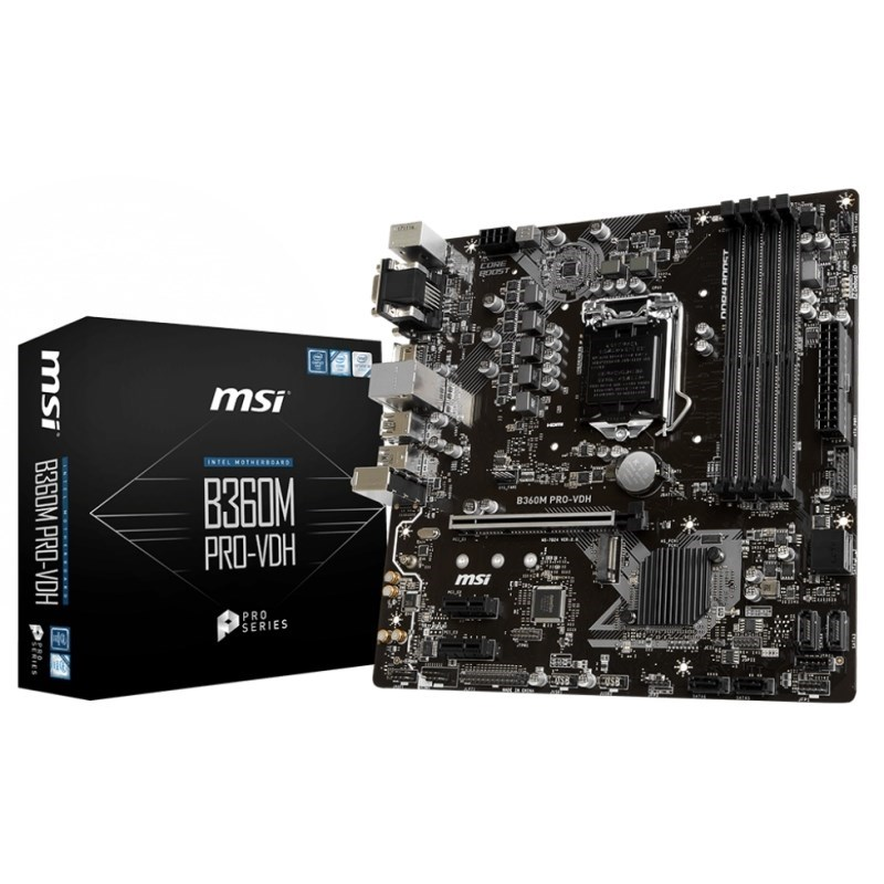 PLACA BASE 1151 MSI B360M PRO-VDH MATX-DDR4
