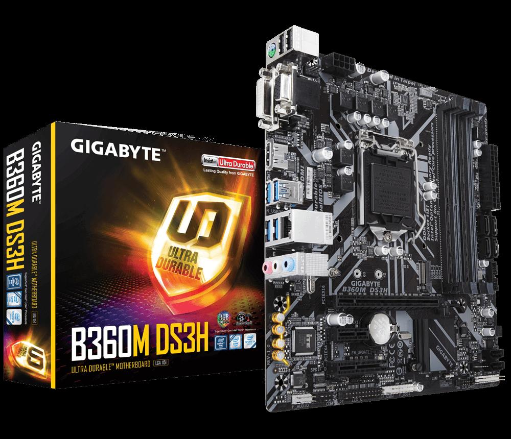 PLACA BASE 1151 GIGABYTE B360M-DS3H MATX-DDR4