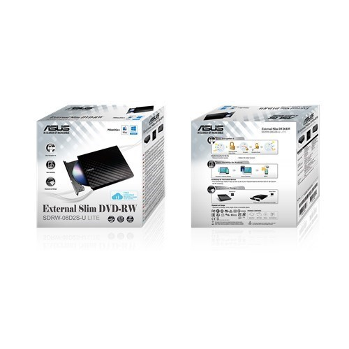 REGRABADORA EXT.. ASUS SLIM SDRW08D2S-B 2.0
