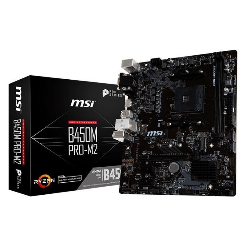 PLACA BASE AM4 MSI B450M PRO-M2 MATX-USB 3.1-HDMI-M.2