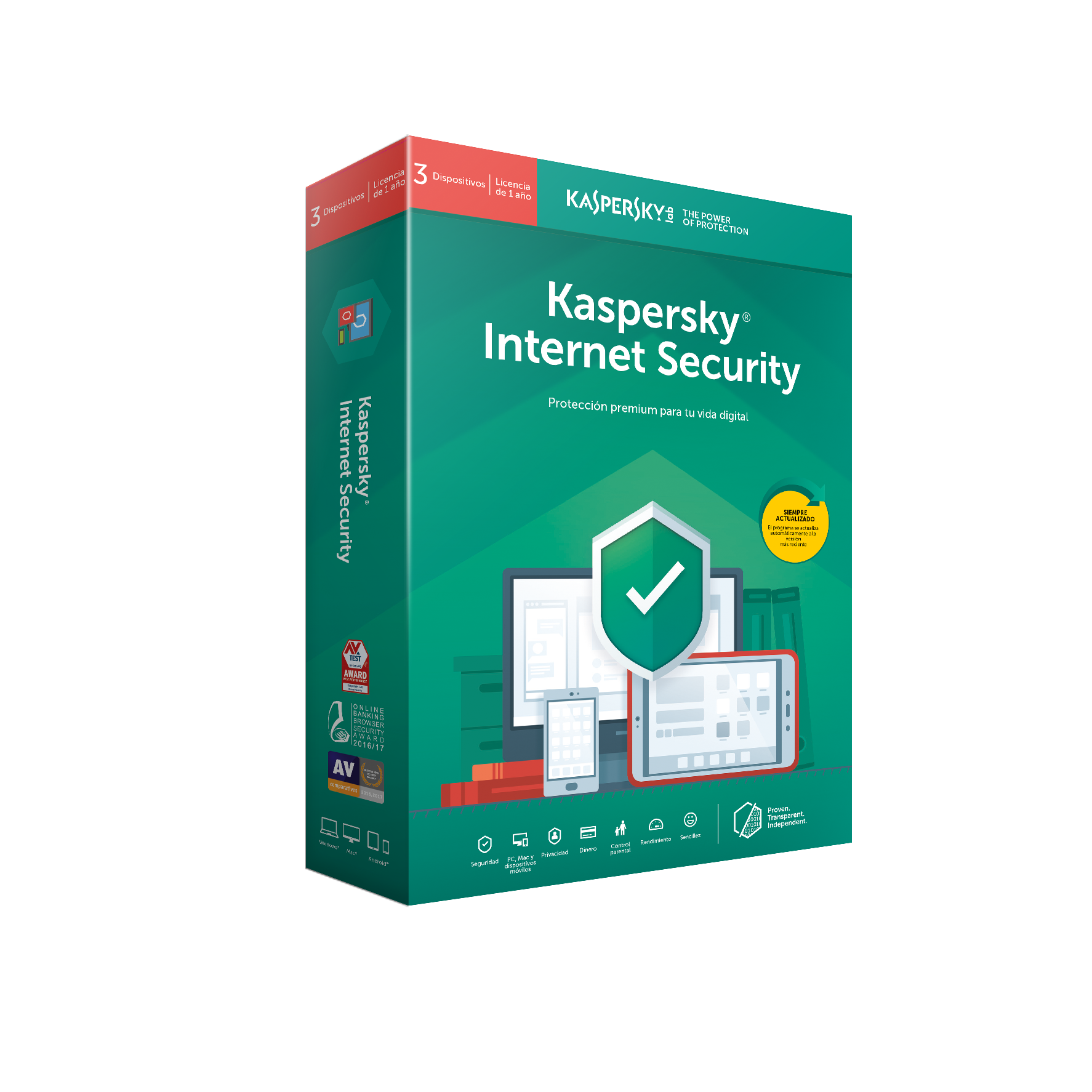 ANTIVIRUS KASPERSKY 2019 3 US INT SECURITY