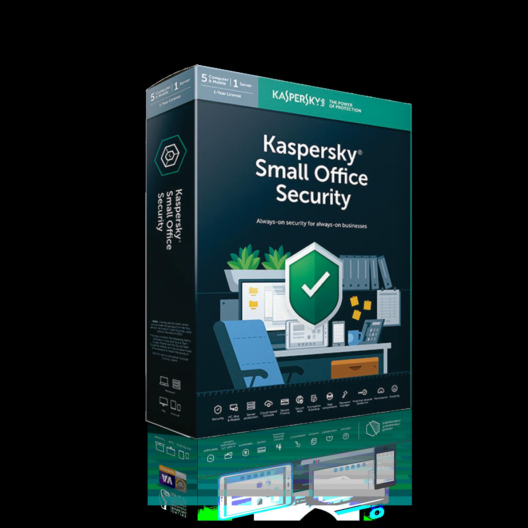 ANTIVIRUS KASPERSKY SMALL OFFICE SEC 2019 1SER+5