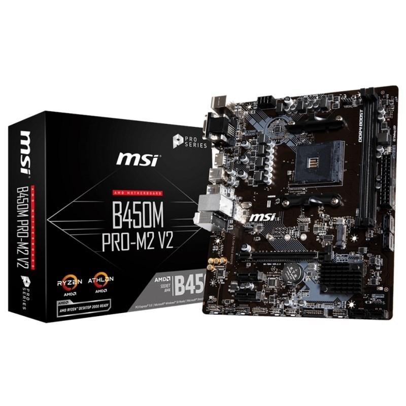 PLACA BASE AM4 MSI B450M PRO-M2 V2 MATX-USB 3.1-HDMI-M.2
